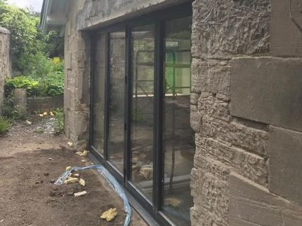 Kirknewton Renovation Glass Installation